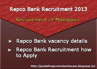 Repco Bank Recruitment 2013