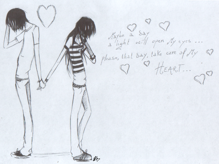 Balahop: Emo Love Drawings