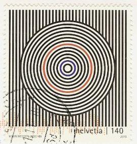 stamp optical illusion resembling a target