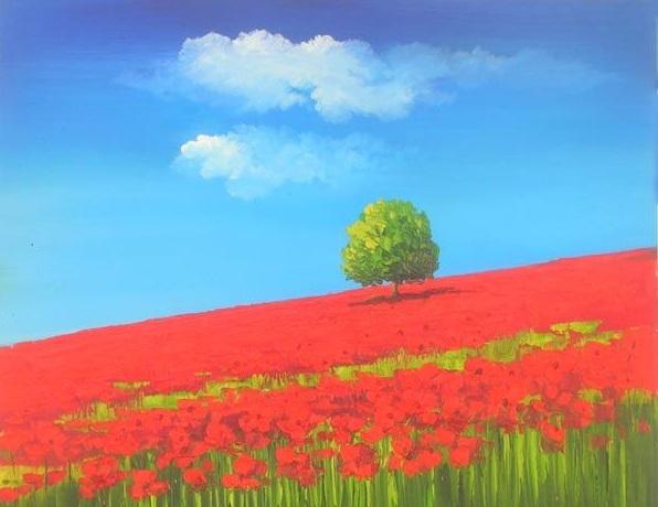 L 39 arte accessibile arredare con i dipinti a olio paesaggi for Dipinti ad olio moderni