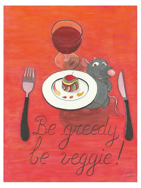 fan-art veggie de Rémi, d'après Ratatouille de Disney-Pixar