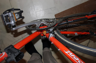 Växlarna och bromsar består av Shimano Exage