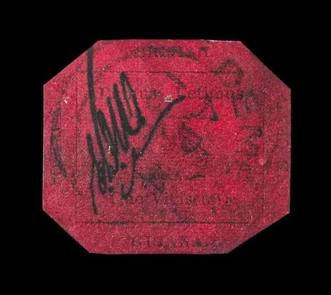 Setem 1 cent British Guiana tahun 1856