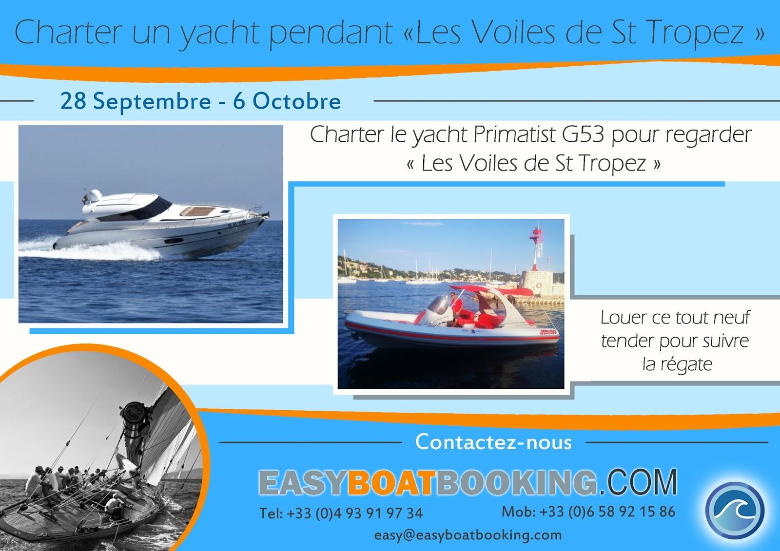 les Voiles de St Tropez location de bateau