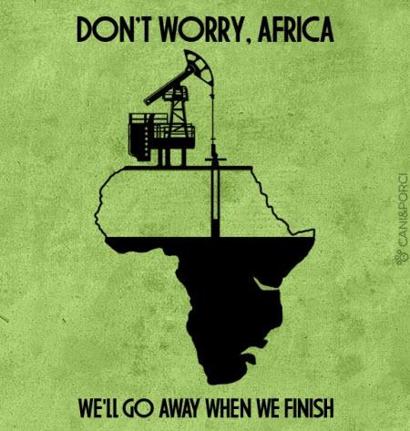 No te preocupes África. Cuando terminemos, nos vamos!