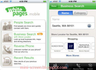 WhitePages Free Reference App for iPhone