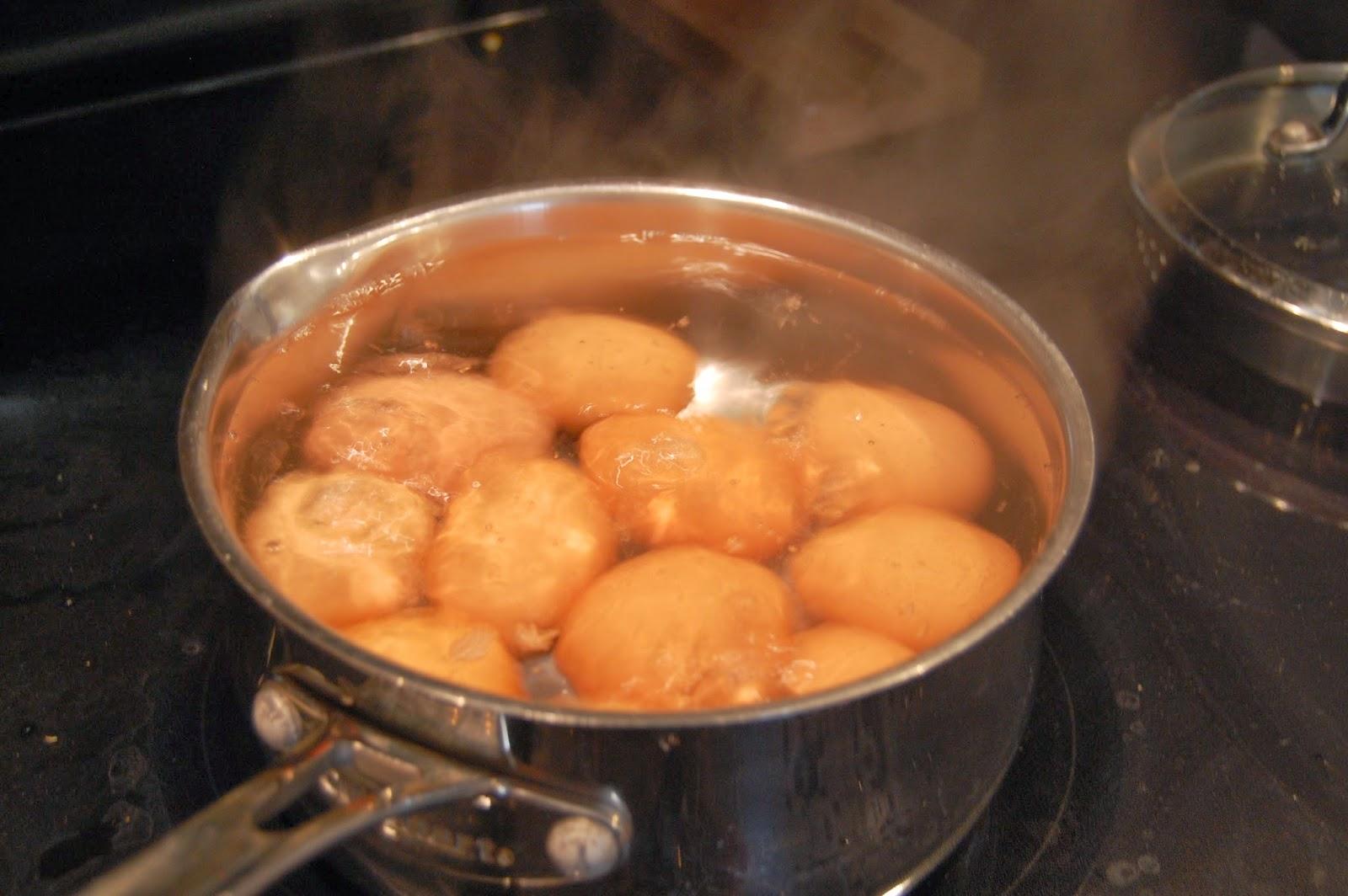 how to make hard boiled eggs runny