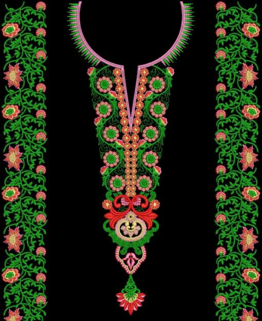 Neck Embroidery Designs For Sarees Blouse And Shirts Neckline