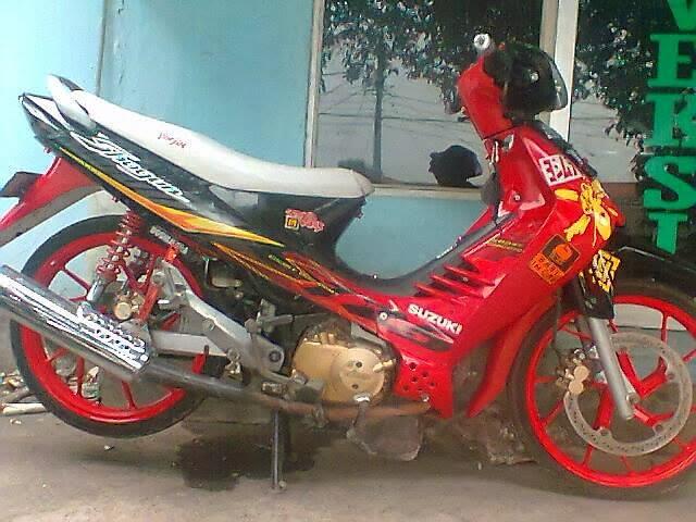 gambar modifikasi motor suzuki shogun sp terbaru