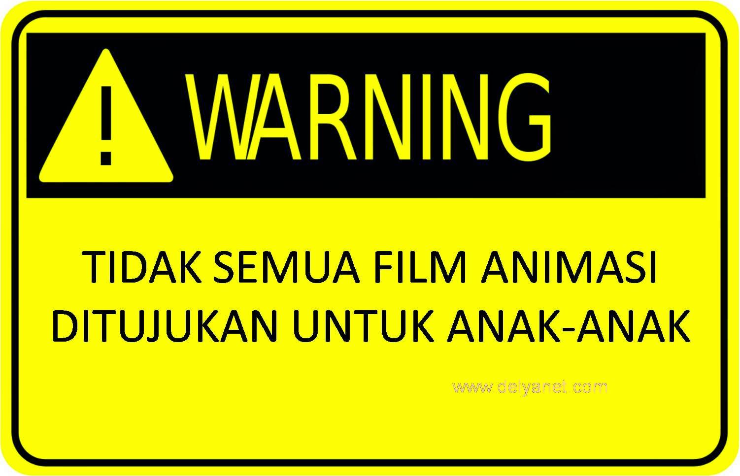 Tidak semua film animasi ditujukan untuk anak-anak