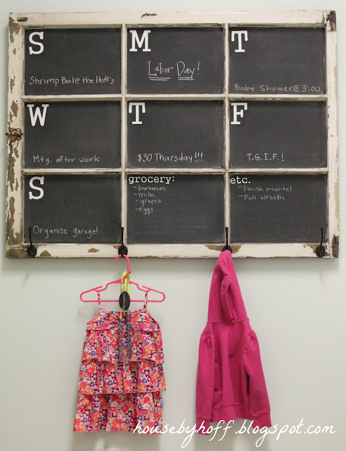 how to make a chalkboard window calendar via housebyhoff.com