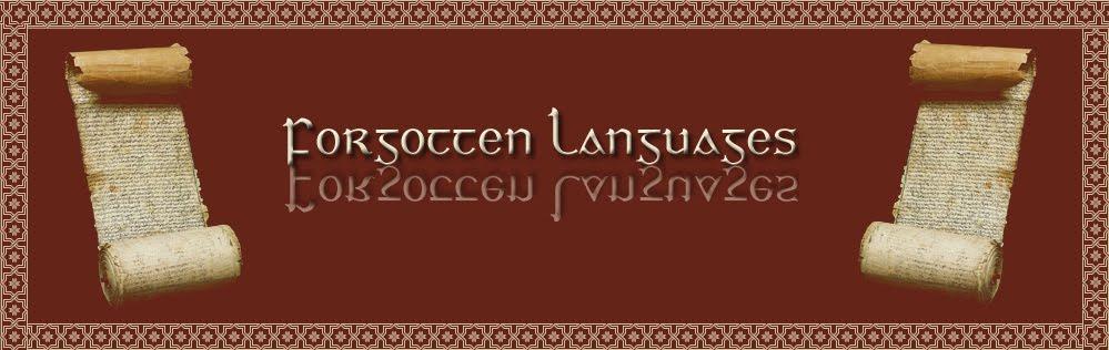 Forgotten Languages