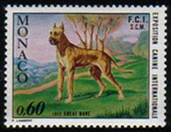 1972年モナコ公国 グレート・デーンの切手