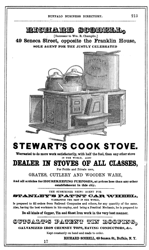 A Stove Less Ordinary: Philo Penfield Stewart, Inventor of the ...