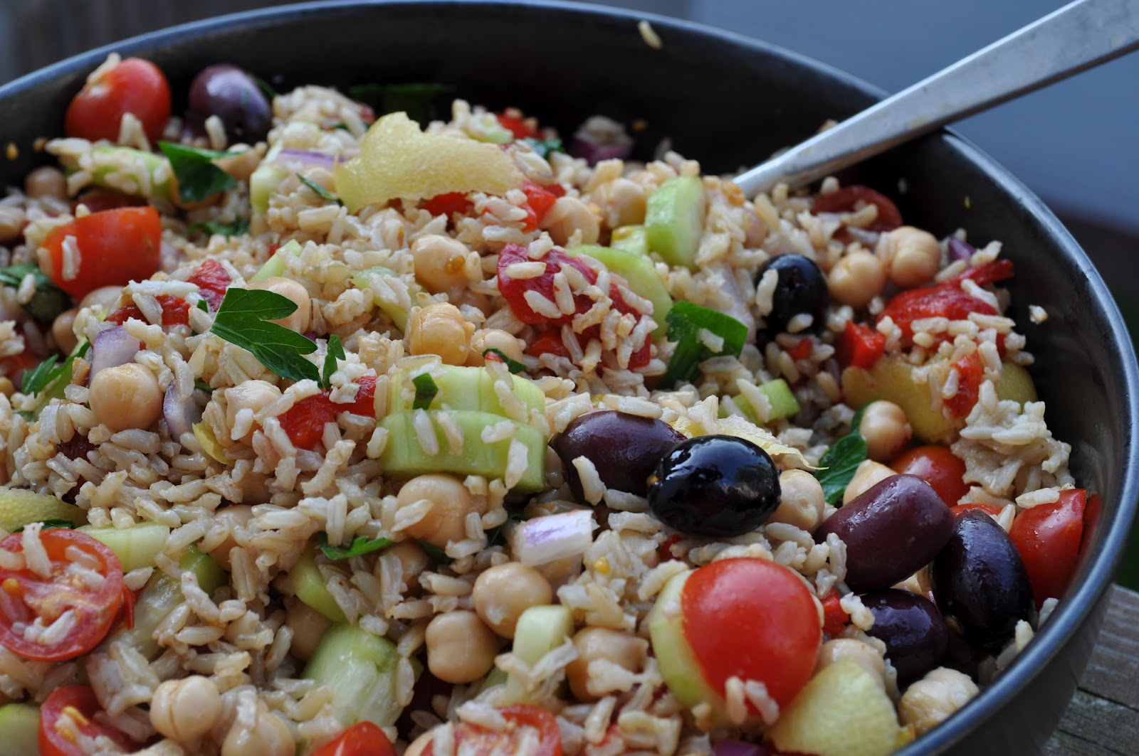 Brown Rice and Chickpea Salad