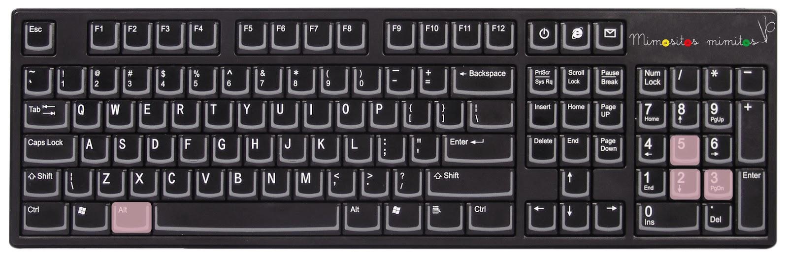truco poner símbolos teclado ordenador freebies recursos gratis ALT