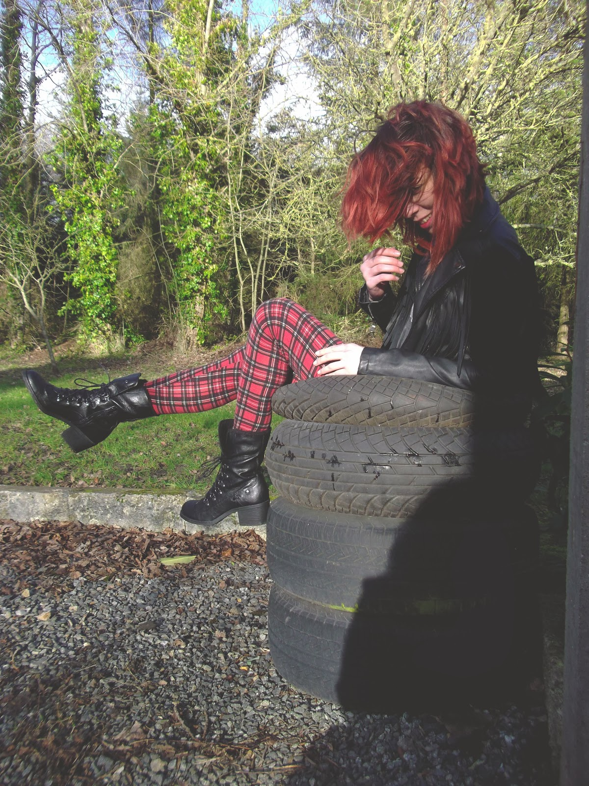 red hair, cold, fringe perfecto, lookbook, Mode, ootd, Outfits, primark, punk, tartan, topshop, winter,