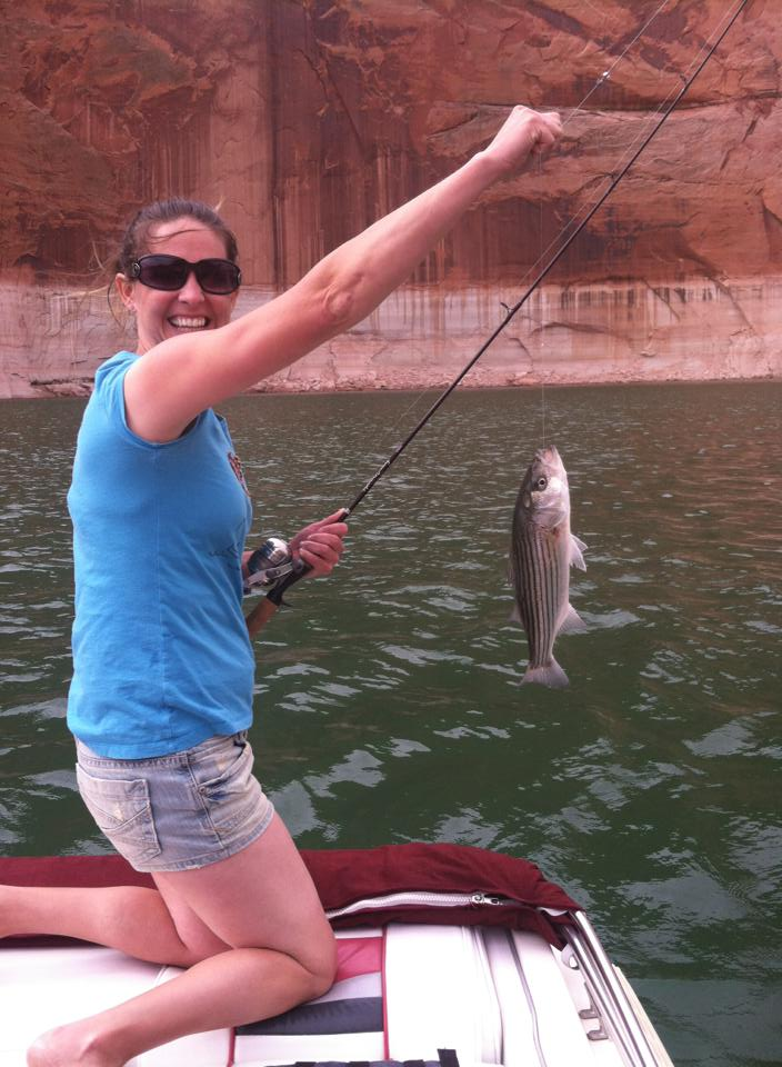 Burnt timber outfitters lake powell stripers for Lake powell fishing