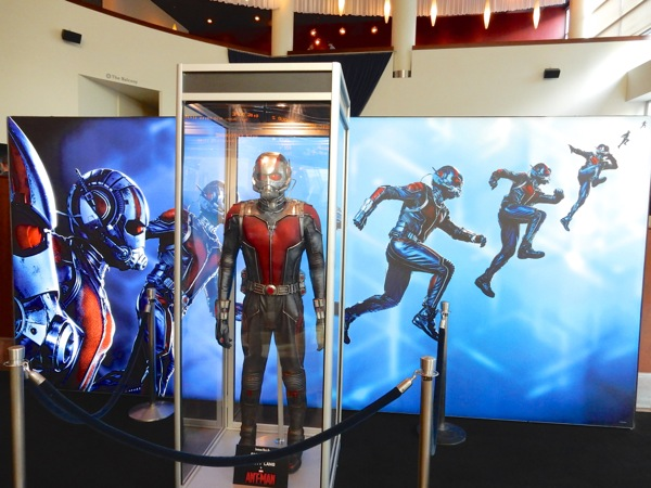 Ant-Man movie costume exhibit