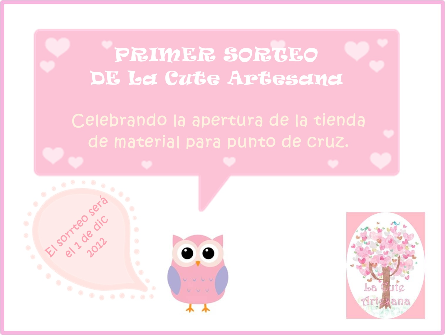 SORTEO EN LA CUTE ARTESANA