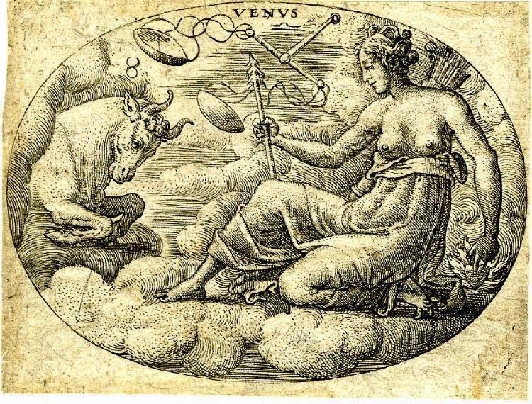 Венера в Тельце. 1575, гравюра