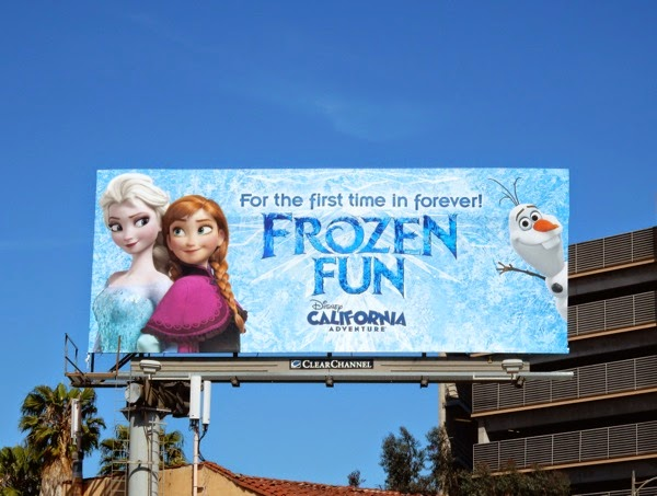 Frozen Fun Disneyland billboard
