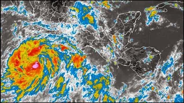 "TORMENTA ""MARIE"" SE INTENSIFICA FRENTE A COSTA OESTE DE MEXICO, 22 DE AGOSTO 2014"
