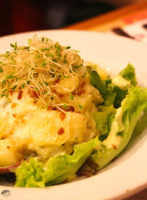 An instant favorite - Warm Bacon Potato Salad of Pancake House in Chino Roces