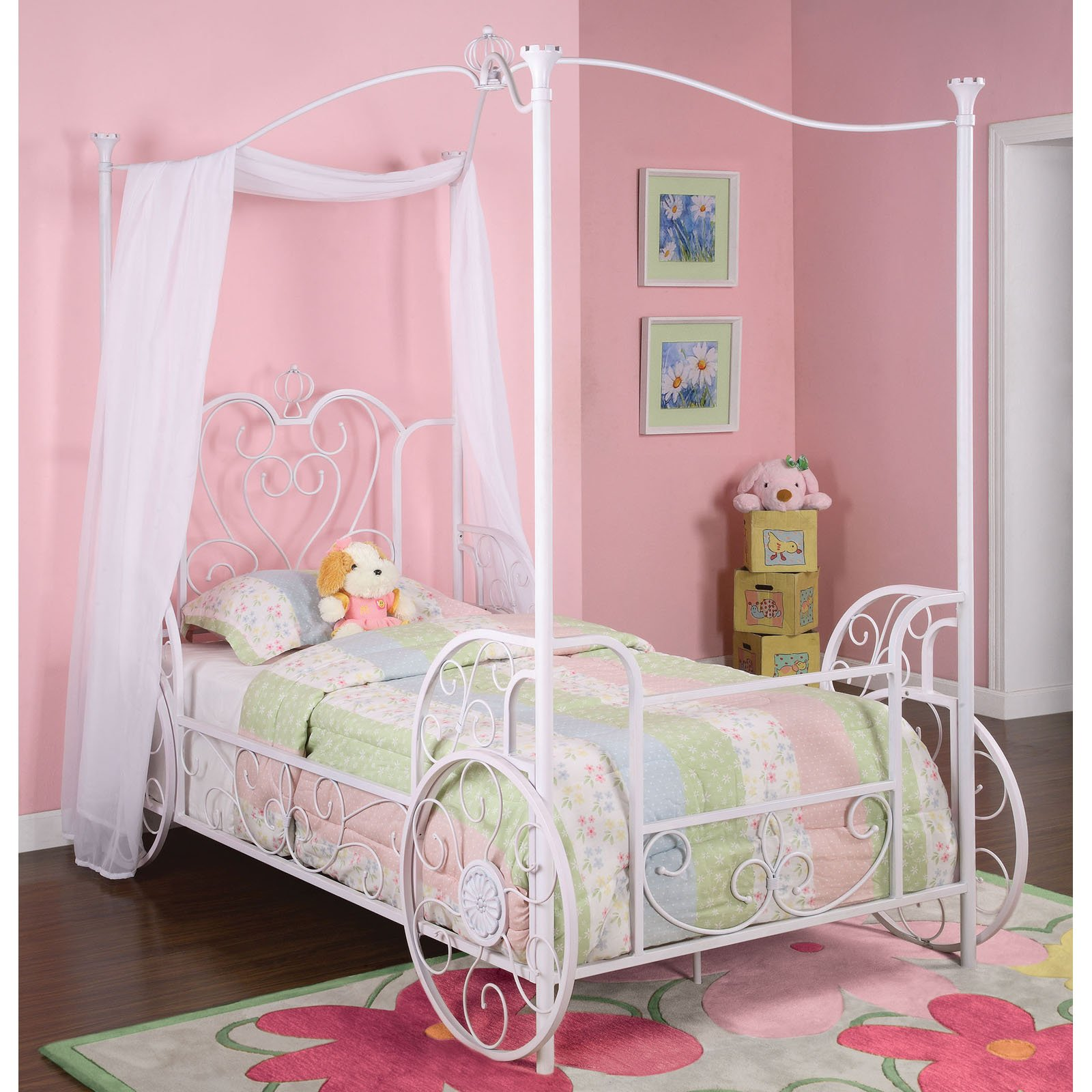 Diy Extra Long Curtains Girls Canopy Bed Decor