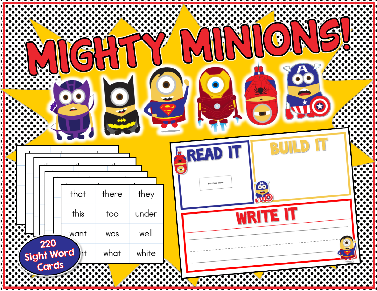 Mighty Minions and Don\'t forget the FREE Frozen Sight Words Game ...