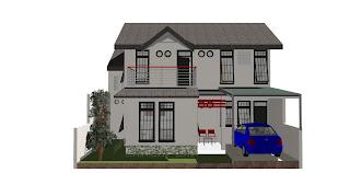 Gambar desain rumah hasil finish