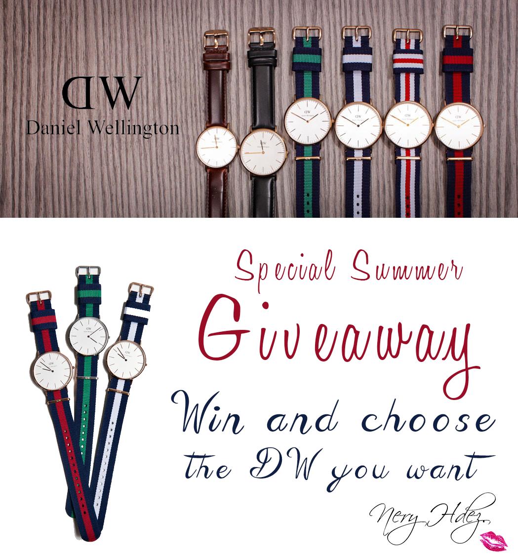 giveaway daniel wellington, gana un reloj, gratis, nery hdez, sorteo, descuento, free, watches