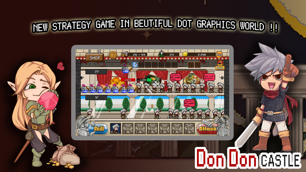 Don Don Castle Adventure inDot Gameplay Android