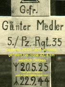 """† Gefr. G. Medler hat einen """"Paten"""""""