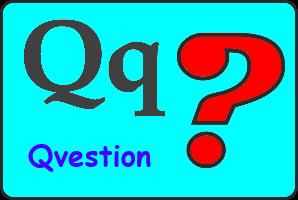 Карточка английской буквы Q
