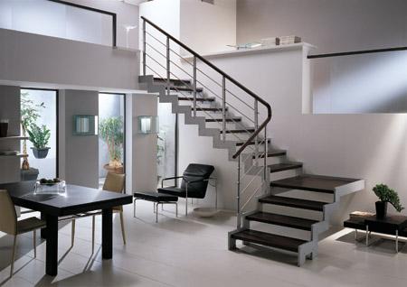 Espacios con estilo materiales inn para escaleras - Escalera dos peldanos ...