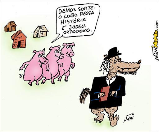 os 3 porquinhos. judeu ortodoxo