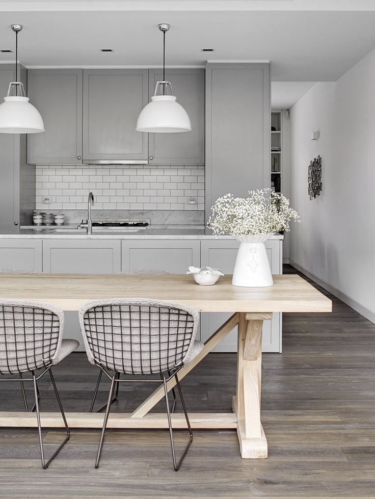 Lamb blonde room love grey kitchens for Modern white and gray kitchen