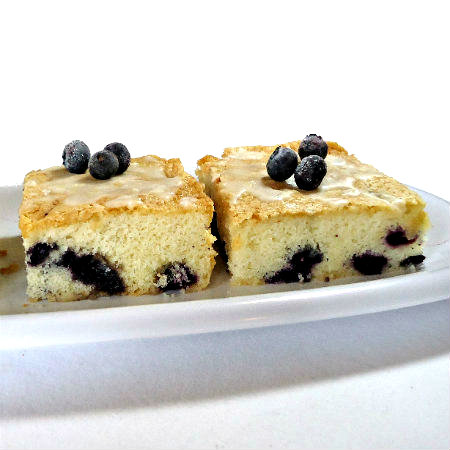 One Perfect Bite: Blueberry Bread Pudding with Spiced Blueberry Sauce