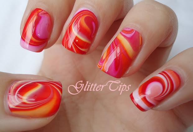 glitter tips rio beauty - marble