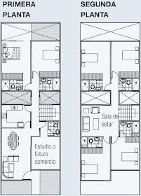 Planos de vivienda en 140 m2 de terreno 3 pisos planos for Casa moderna 140 m2