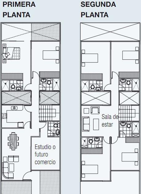 Planos de vivienda en 140 m2 de terreno 3 pisos planos - Planos de viviendas ...