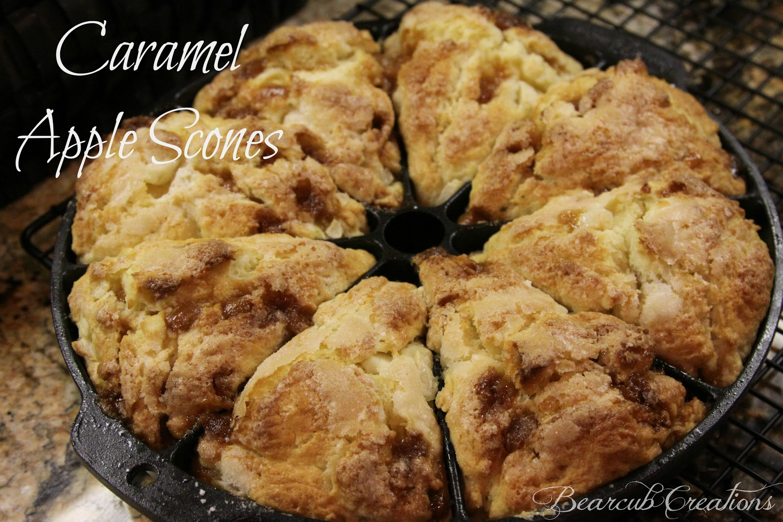 Bearcub Creations: Caramel Apple Scones
