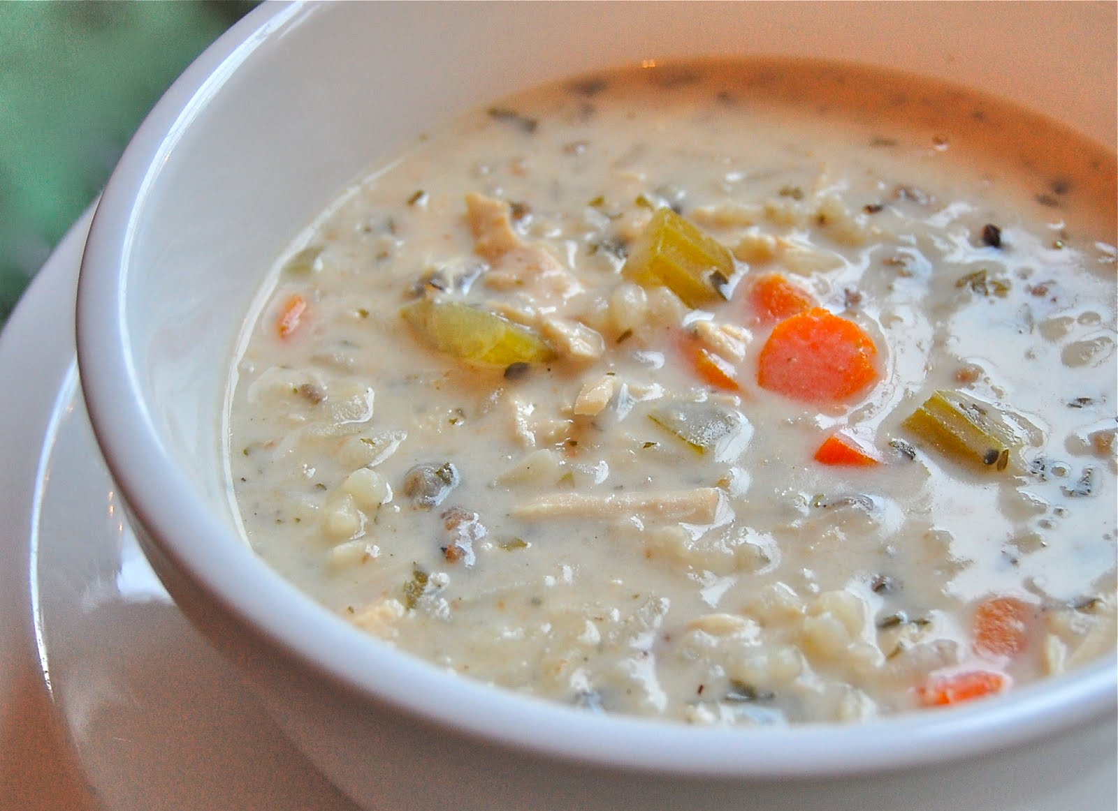 Chef Mommy: Slow Cooker Creamy Chicken and Wild Rice Soup