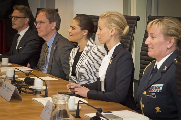 Crown Princess Victoria of Sweden visits International Criminal Court
