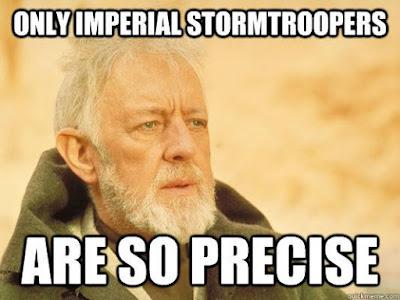 Stormtrooper aim Clonetroopers miss shots