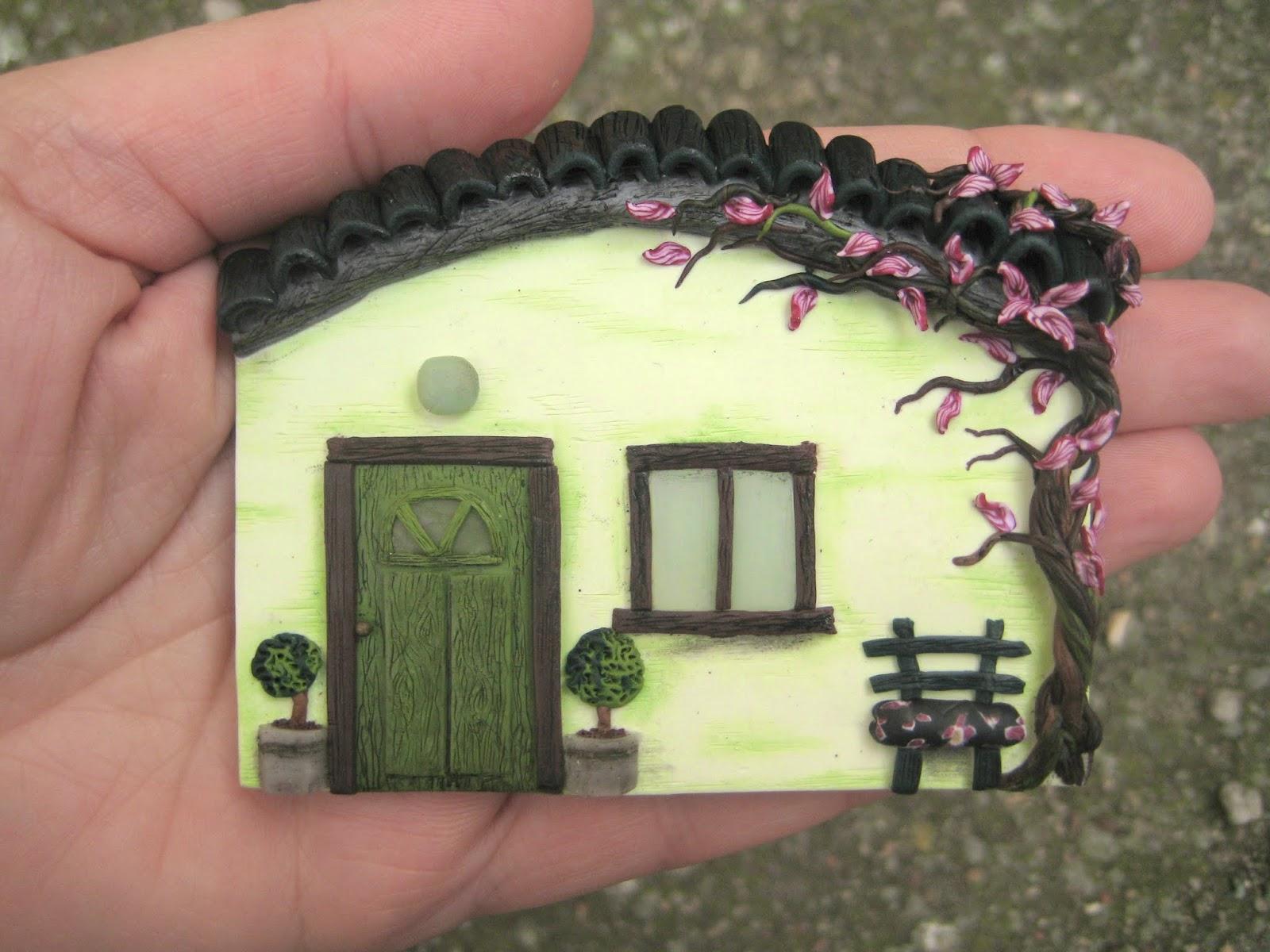 magnes, fridgemagnet, house, home