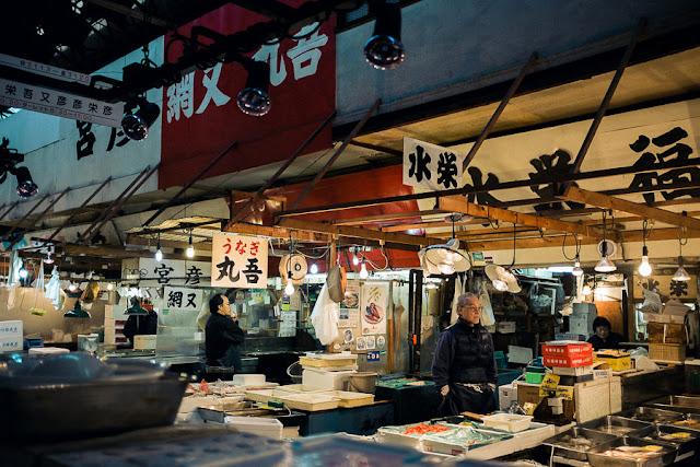 Tsujiki Fish Market Japan Fuji X100S