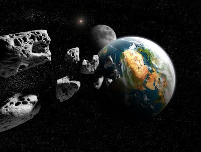 Asteroides pasando muy cerca de la órbita de la tierra