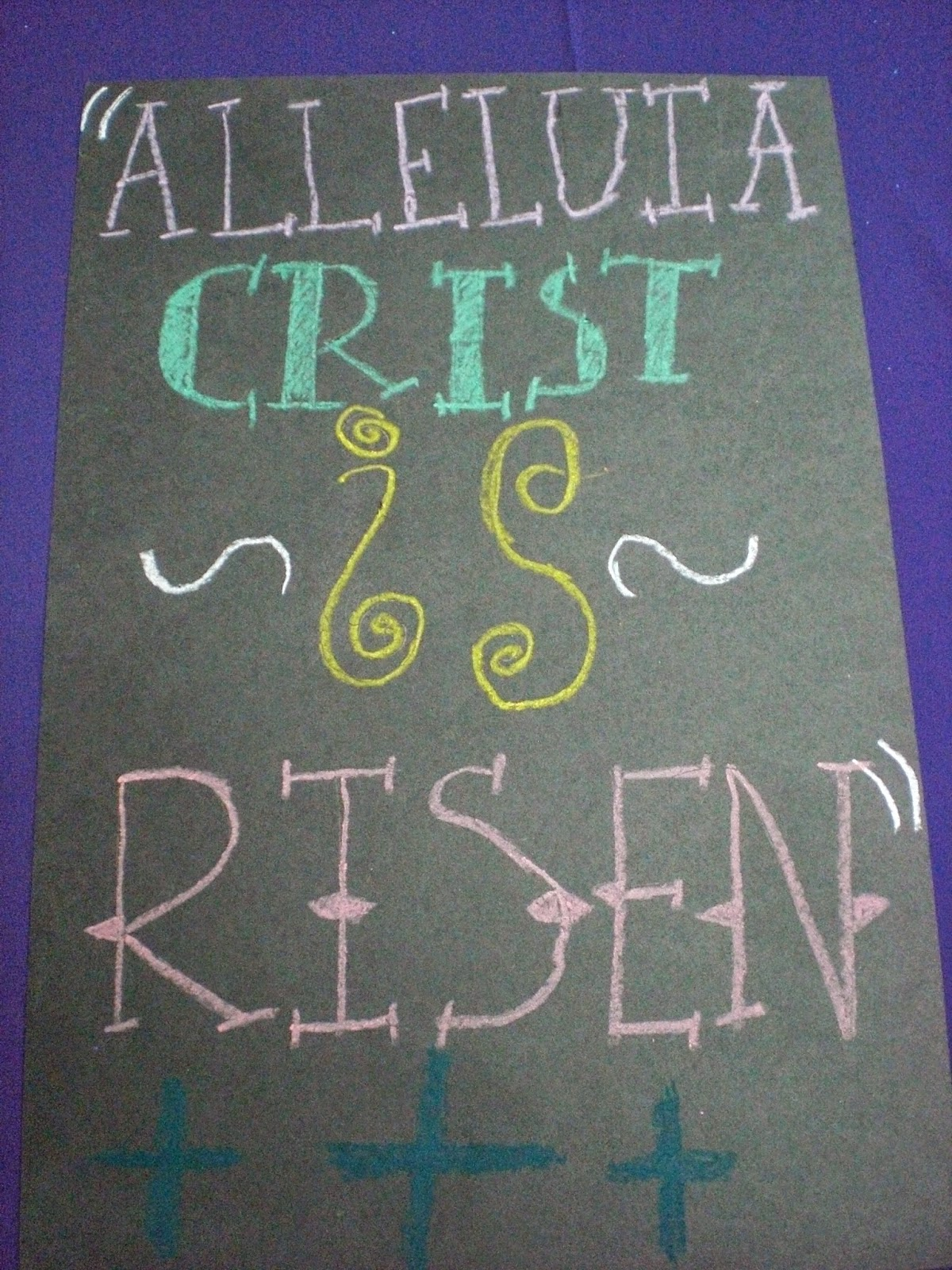 Easter Typography Posters on Making Art With Kids Oil Pastels That Pop